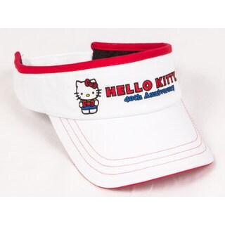 Hello Kitty 40th Anniversary Junior White Visor