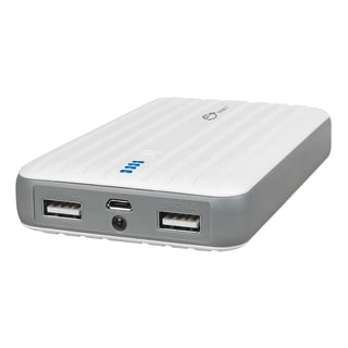 SIIG 10000mAh Rapid Charging Dual-Port Battery Power Bank - White