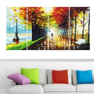 'Walk On' Forest Landscape Canvas Wall Art