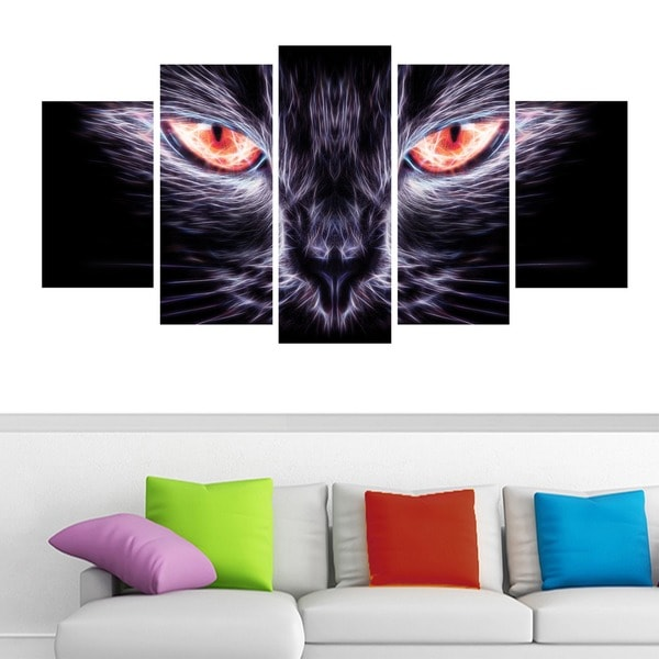 'Cat Eyes' Canvas Wall Art