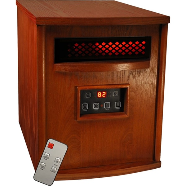 Sunheat TW1500 Cherry 1500-watt Electric Portable Infrared Heater with Remote Control