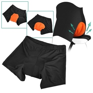 Zodaca Orange/ Black Men Silicone Gel 3D Padded Breathable Sport Exercise Bicycle Cycling Short Pant