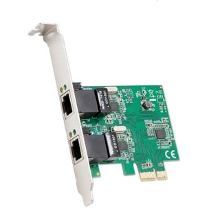 Syba 2 Port Ethernet PCI-E X1 Card Realtek RTL8111 Chipset With Standard/ Low Profile Brackets