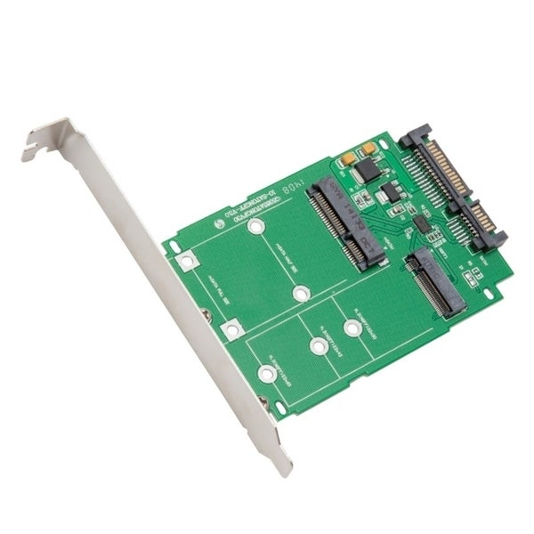 IOCrest M.2 NGFF & Msata SSD To SATA III Adapter Card With Standard/ Low Profile Brackets