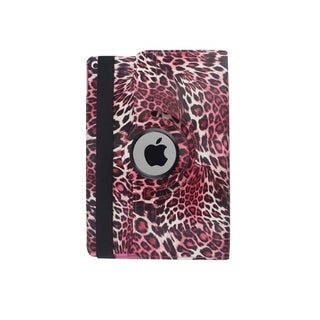 INSTEN Pink Cheetah Swivel Leather Clip Snap-on Tablet Case Cover With Stand For Apple iPad Air 2