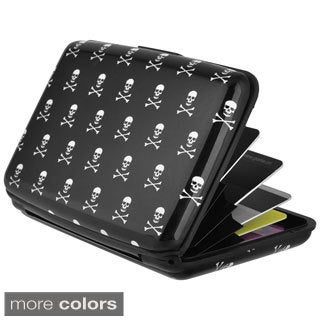 Zodaca Design Pattern Style Skin Vertical Aluminium Professional Business Card Holder