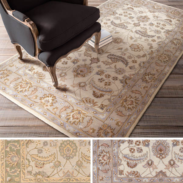 Hand-tufted Tiana Traditional Wool Rug (7'6 x 9'6)