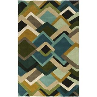 Mike Farrell Hand-Tufted Rudd Wool Rug (8' x 11')