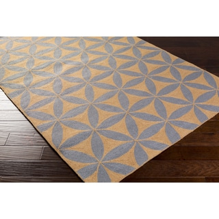 Hand-Hooked Lucy Geometric Polyester Rug (3'6 x 5'6)