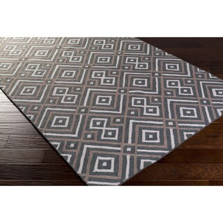 Hand-hooked Lynn Geometric Polyester Rug (8' x 10')