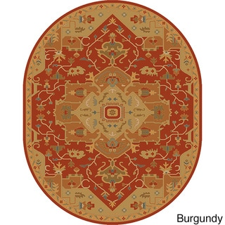 Hand-tufted Misty Traditional Oval Wool Rug (6' x 9')