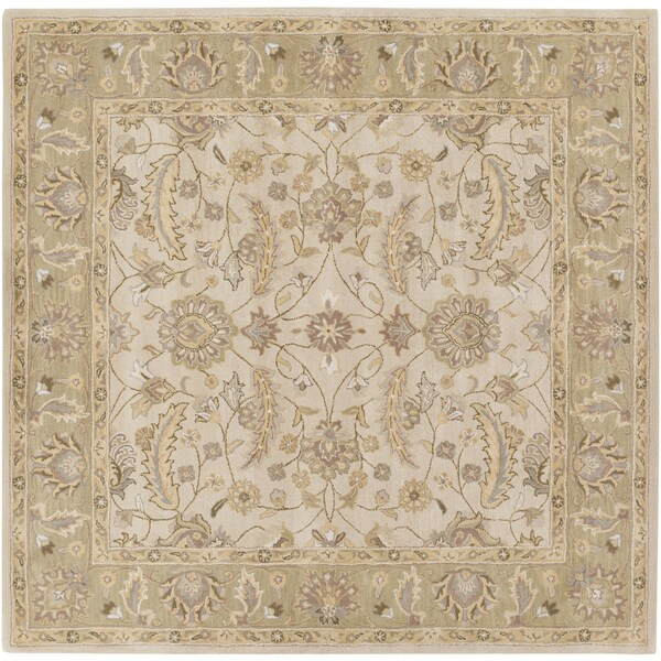 Hand-tufted Tiana Traditional Wool Rug (9'9 Square)