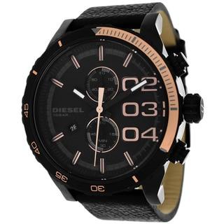 Diesel Men's DZ4327 Double down Round Black Strap Watch