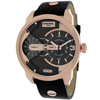 Diesel Men's DZ7317 Mini Daddy Round Black Strap Watch