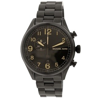 Michael Kors Men's MK7067 'Hangar' Black Ion Plated Stainless Steel Watch