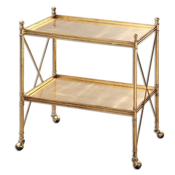 Amaranto Gold Serving Tea Cart