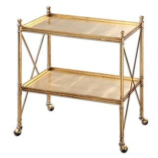 Uttermost Amaranto Gold Serving Tea Cart