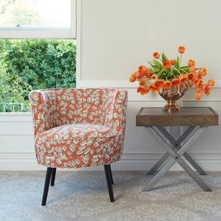 angelo:HOME Lily Autumn Orange Twin Leaf Trail Arm Chair