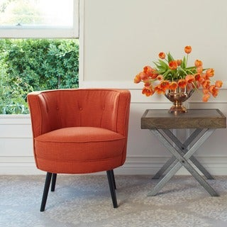 angelo:HOME Lily California Vintage Orange Linen Arm Chair