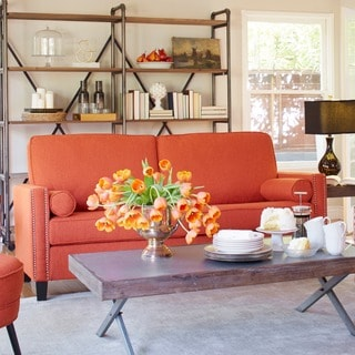 angelo:HOME Marie California Vintage Orange Linen Sofa