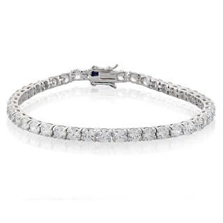 ICZ Stonez Silvertone 18ct TGW Cubic Zirconia Bracelet