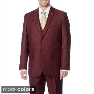 Falcone Men's 3-piece 2-button Vested Suit