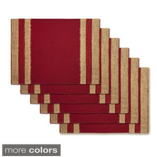 Rose Tree Jute Trim Placemats (Set of 6)