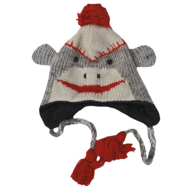 Knit Sock Monkey Winter Beanie (Nepal)
