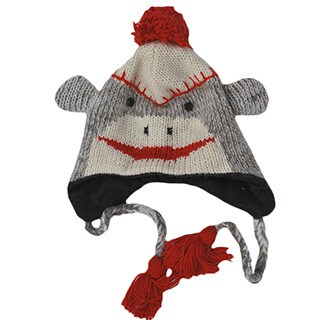 Knit Sock Monkey Winter Beanie (Nepal)