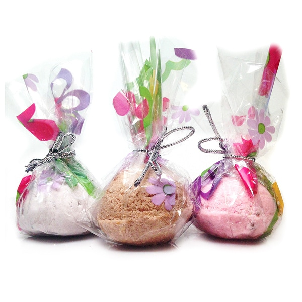 Lavender, Chocolate, and Fresh Rose 3-piece Bath Melt Truffles
