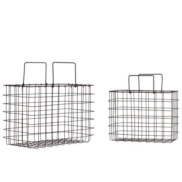 Grey Metal Basket (Set of 2)