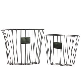 Black Metal Basket (Set of 2)