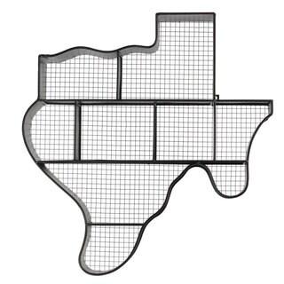 Black Metal Texas Map Wall Shelf