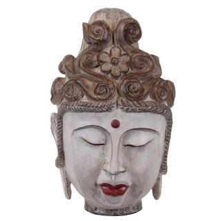 Beige Resin Buddha Head