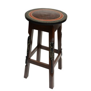 Hand-finished Elephant Bar Stool/ Pedestal (Ghana)