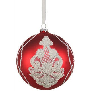 Glass Doily Pattern 5-inch Ornament
