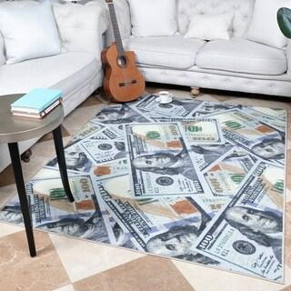 Ottomanson Siesta 100 Dollar Bill Design Runner or Area Rug