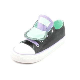 Converse Girl (Toddler) 'CT Double Tongue' Basic Textile Athletic Shoe