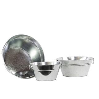 Zinc Metal Bucket (Set of 3)