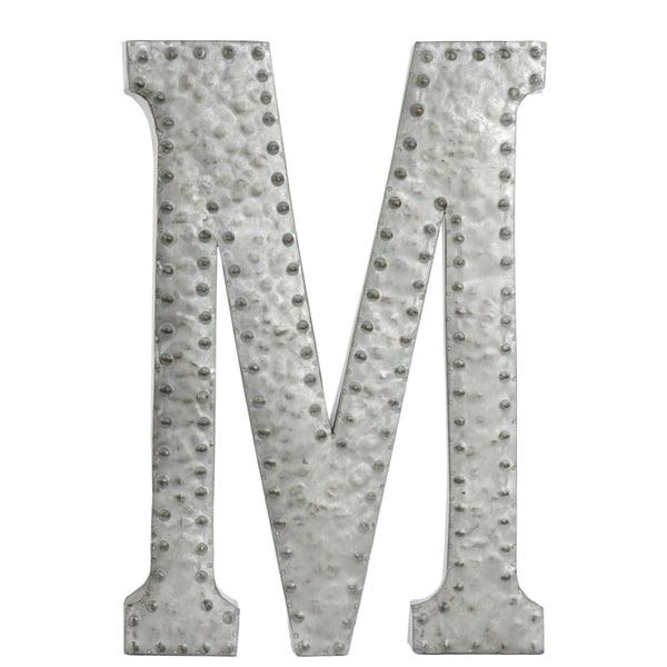 Zinc Metal Letter M