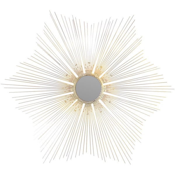 Mirror Silver Metal Radial Wall Accent