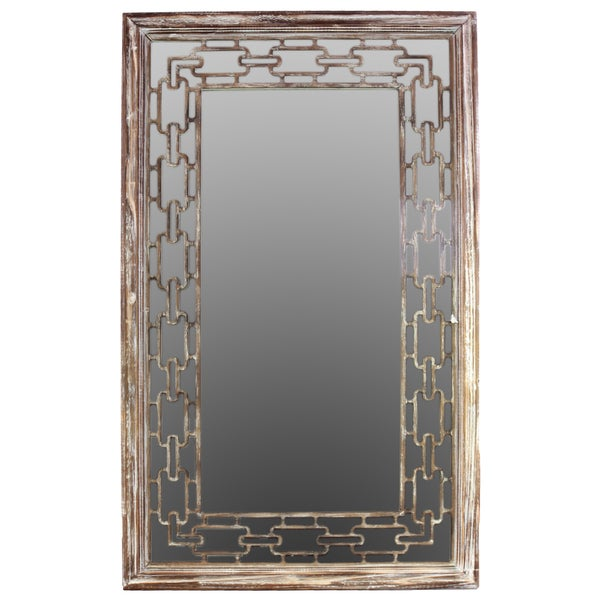 Natural Finish Wooden Mirror