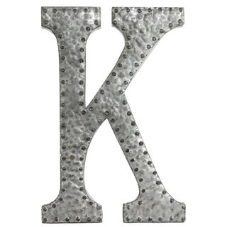 Zinc Metal Letter K Wall Decor