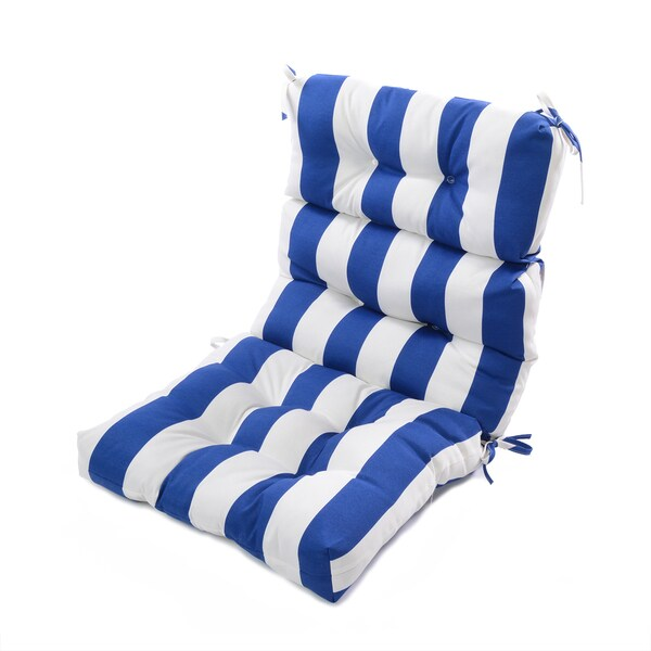Polyester Cabana Striped High Back Chair Cushion