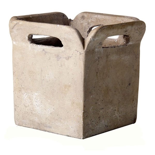 Cement Brown Bag Planter