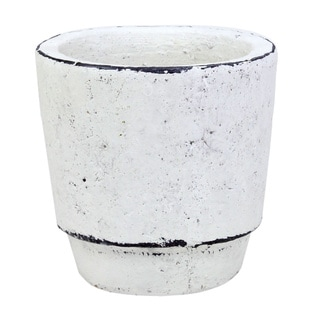 Cement Fleur Small White Pot