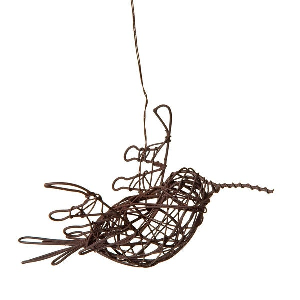 Assorted Wire Hanging Humming Bird Sculptures (Set of 8)
