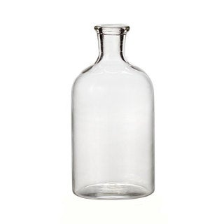 Clear Smoked Glass Antique Bottle Vase