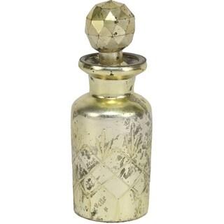 6-inch Cut Glass Silver Bottles (Set of 6)