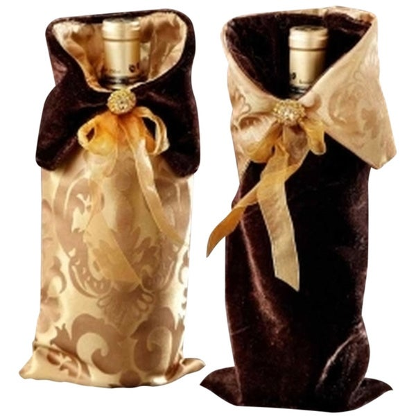 Assorted Jacquard Wine Bags (Set of 2)